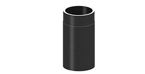 Ofenrohr Längenelement doppelwandig, mit 330mm Länge, Ø 150mm Durchmesser; schwarz lackiert