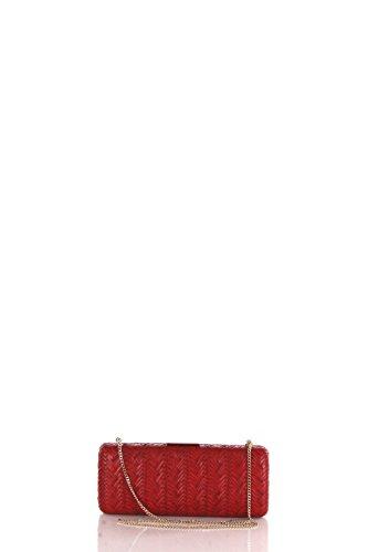 Pochette Accessori Olga Berg Tu Rosso Ob4417.red Autunno Inverno 2016/17