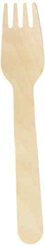 Tenedores desechables Birchwood - 100 unidades | Tenedores de madera, Biodegradable tenedores