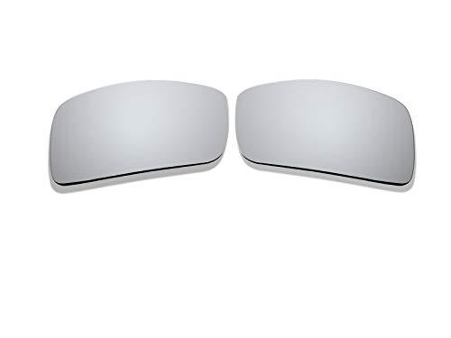 BlackWorld Silver Mirro Polarized Ersatzgläser für Oakley Eyepatch 2 Sonnenbrille