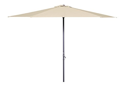 GoodSun Sonnenschirm Kurbelschirm BL, natur, 300 cm rund, Gestell Alu/Stahl/Kunststoff, Bespannung Polyester, 3.7 kg