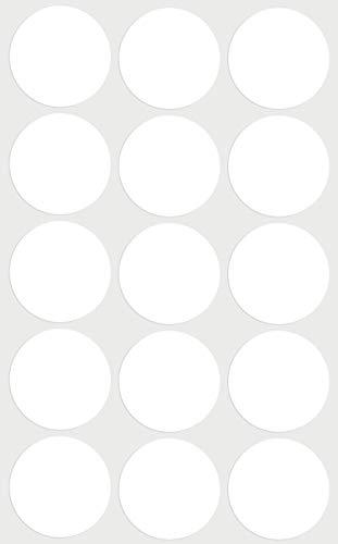 Etiketten Weiß 30 mm Aufkleber - in verschiedenen Farben Größe 3 cm Klebepunkte 75 Vorteilspack von Royal Green