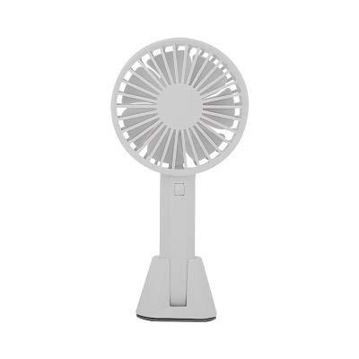 XGX Handheld-Fan tragbare Mini-Desktop-USB-Aufladung Kleiner Fan Männer und Frauen Geschenk Fan, Reisen/zu Hause/persönliche Fan Kühlung Cryogenic Device (Color : Shallow Grey) -