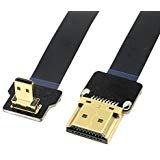 Câble plat micro HDMI mâle vers HDMI FPV FPC - 90degrés vers le bas - 50cm - Pour photographie aérienne avec multicoptère