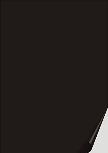 Preisvergleich Produktbild das-label DIN A4 selbstklebende Vinylfolie schwarz | OUTDOOR glänzend | zum Basteln Scrapbook | Vinylfolie zum Einlegen in Plotter | Sticker | Aufleber | geeigent auch für Autoaufkleber | Markierungspunkte