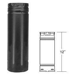 Simpson Duravent 3012B 3x12 Black Pellet Vent Pipe by Simpson Dura-Vent - Pellet Vent