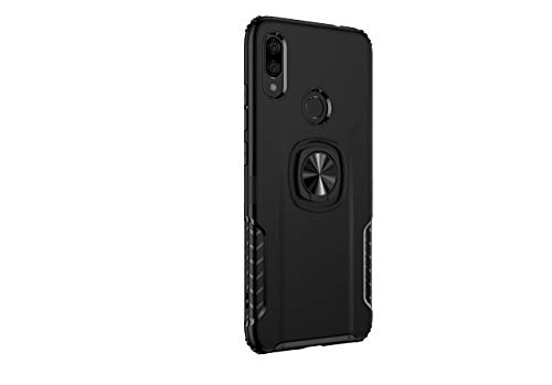 Markest Funda del Teléfono Móvil para Xiaomi Redmi Note 7, Parachoques a Prueba de Golpes, Caja del Teléfono Inteligente con Soporte y Función de Montaje Magnético para Autos, Agarre Cómodo(Negro)