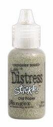 Signature Series Distress Stickles Glitter Glue .5 Ounce-Old Paper