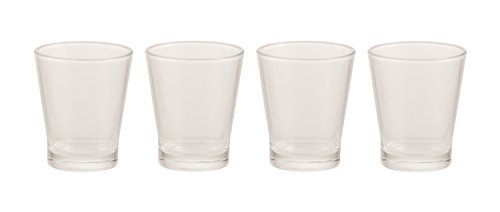 Galileo Casa 2409142 Set 4 Kaffeebecher Kaffee, Glas, transparent