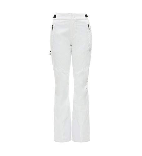 Spyder Damen Winner Tailored Hose, White, 42 (Frauen Für Snowboard-hose)