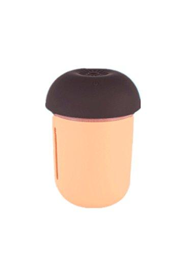 Heguowei UAB Recargable Purificador De Aire del Coche Multifuncional Medidor De Agua Ventilador Luz Nocturna Triple Humidificador De Setas (Color : Naranja)
