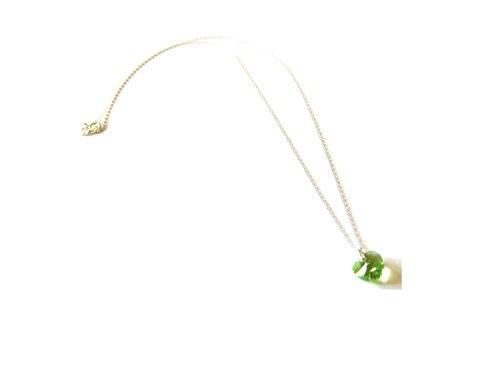 Ciondolo a forma di cuore in peridoto, con pietra portafortuna agosto e cristalli Swarovski, in (Peridot Forma Di Cuore Ciondolo)