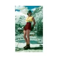 "Bikini everyday cards 5""x7"" 2 for 1 Offer!!! Girl skier - Greeting Card"