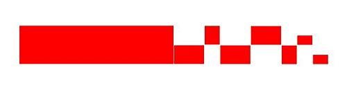 Dinger-Design Race - Adesivo per Auto con Strisce da Gara Tuning Styling 80 x 10 cm, Colore: Rosso