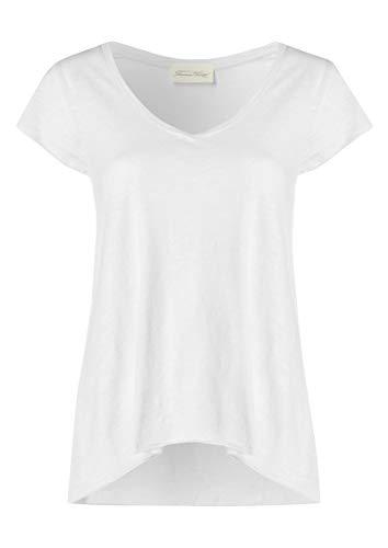 American Vintage Damen Jacksonville Short Sleeve T-Shirt in Heather Grey, Weiß (American Vintage Tee)