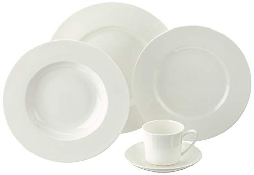 Rosenthal 61040-800001-18743 Jade weiß 30-teiliges Fine Bone China Service Weiße Fine China