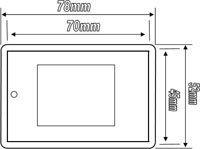 40, leer, Acryl, transparent, Kunststoff, für Kühlschrank-Magnete, 70 mm x 45 mm L4