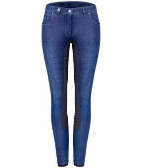 Cavallo Denim Reithose Caro Grip, Blue-darkblue, 46
