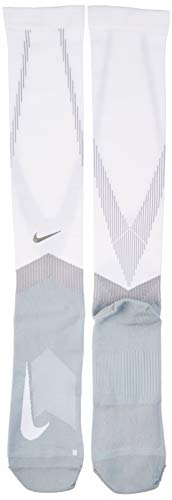 Nike U NK Spark COMP Knee HIGH Socks, White/Wolf Grey, 10 -