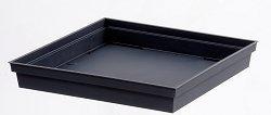 EDA Plastiques Soucoupe TOSCANE carré pour Pot 13626 G.ANT SX3 Gris anthracite 33 x 33 x 5 cm