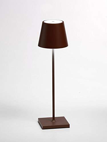 Aux côtés poldina rechargeable lampe de table lED 2 W 3000 K IP54 extérieur acier Corten