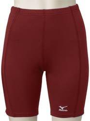 Mizuno Low Rise Compression Sliding Shorts (X-Small, Cardinal)
