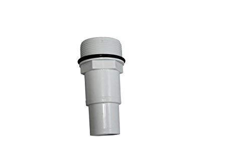 """well2wellness Pool Schlauchtülle/Schlauchverbinder 32/38 mm mit 1 1/2\"""" Außengewinde Plus O-Ring (024025)"""
