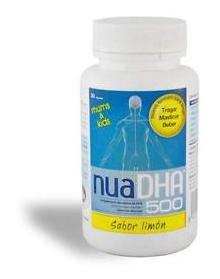 NuaDHA 500 (30 perlas masticables)(sabor limon)