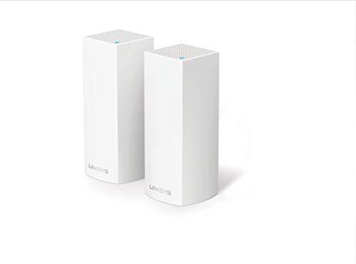 Linksys Velop - Sistema WiFi Intelligent Mesh para todo el hogar (paquete de 2 nodos AC4400, Triple banda, red mallada, hasta 4 habitaciones / 200m², instalación fácil) width=