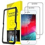 JETech Film de Protection d'écran pour iPhone 8, iPhone 7, iPhone 6s et iPhone 6, Verre Trempé avec Outil Facile à Installer, Lot de 2