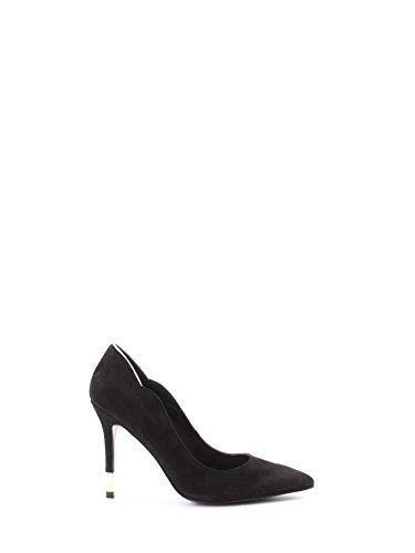 Guess Decollete Damen Schuhe Barri Punta Heel Cm 10,5 Suede Leather Black