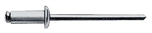 Gesipa Blindniete alu/stahl Standard Flachkopf, 6 x 10 mm, 250 Stück (Metall 6 10 X)