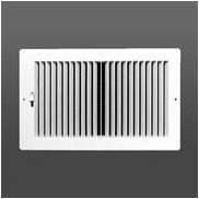 Zweiwege-Kunststoff Register Seite Wand/Deckenleuchte Air Register mit multi-shutter Dämpfer in weiß (20,3x 25,4cm) (Duct Öffnung Größe) -