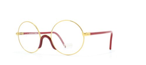 gianfranco-ferre-2-408-gold-red-round-certified-vintage-eyeglasses-frame-for-mens-and-womens