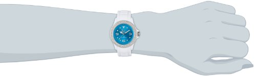 ICE-Watch Star Women's Quartz Watch with Blue Dial Analogue Display and White Silicone Bracelet ITE.ST.WTE.U.S.12