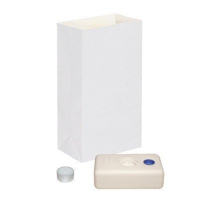 Lichtertüte Luminaria kits- 12-Zählen LumaBases, feuerbeständig Laterne Taschen und Tee Kerzen durch LumaBase