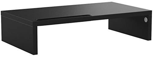 RFIVER Monitorständer Monitor Erhöhung Bildschirmständer Notebookständer Laptopständer 42,5x23,5x10 cm Schreibtisch Organizer Schwarz CM1001