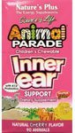 Natures Plus Animal Parade Children's à croquer Inner Ear Support with K12 probiotics - Natural Cherry Flavour , 90