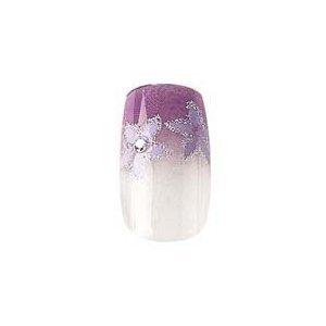 party-nails-kit-dongles-pret-a-poser-2x-pack-de-12-ongles-total-de-24-ongles-couleur-purple-flowers-