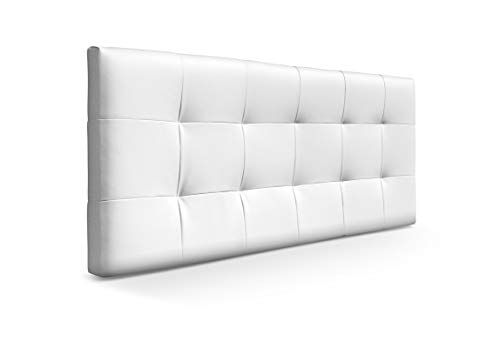Suenoszzz - Cabecero de Cama tapizado *San Francisco* (Cama130 cm - 135 cm y 140 cm) Medida 145X57 Cms. Color Blanco