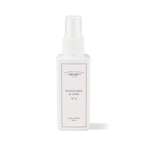 Luxuriöses Mandarine und Limette Zimmer & Kissen Schlummer-Spray für Schlaf, Entspannung und Schlaflosigkeit (groß 120ml) von Masters of Mayfair