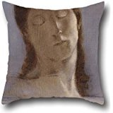 16 X 16 Inches / 40 By 40 Cm Oil Painting Odilon Redon - Closed Eyes Cushion Cases,twice Sides Is Fit For Seat,wife,deck Chair,kitchen,outdoor,kids Boys -