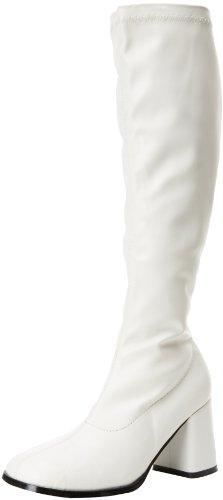 Pleaser Gogo300/yl, Damen Stiefel, Weiß (WHT STR PU), 36 EU