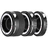 Neewer Kit Bague Allonge Auto Métallique 12mm 20mm 36mm pour Nikon DSLR d'Objectif AF,AF-S D7200 D7100 D7000 D5500 D5300 D5200 D5000 D3200 D3100 D3000 D700 D600 D500