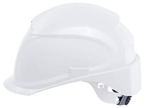 Uvex Airwing B-S-WR Schutzhelm für die Baustelle - Drehrad und Kurzer Schirm - Weiß