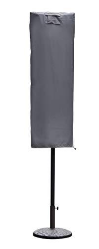 Sekey Housse de Protection pour Parasol avec Deux Hauts,(résistante aux UV et à la poussière et à l'eau, résistante aux intempéries, résistante aux déchirures),Gris