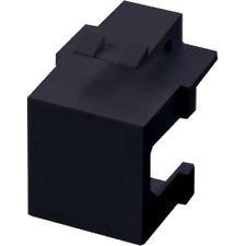 Snap In Keystone Easy installieren blanko X 4schwarz für 2Port oder Single Gehäuse