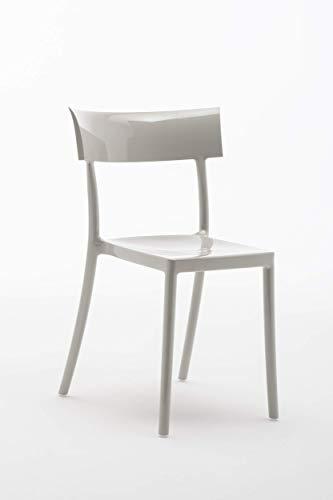 Kartell 5818/07 Catwalk Chaise - Polycarbonate - Lot de 2 Chaises - 53x81x54,5 cm - Gris