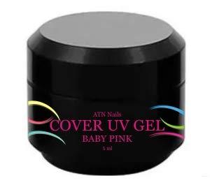 ATNails abrir y cerrar la tapa / - de camuflaje de los New compatible Gel y de bebé plegada con rosa - Color blanco color rosa y de grosor medio líneas gruesas y 5 ml