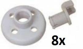 DREHFLEX® Bosch Korbrolle Geschirrspüler 8 Stück 066320 - alternativ - unten